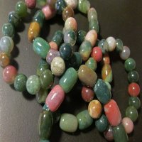 100% JADE: Beaded Bracelet - Mutli-color beads