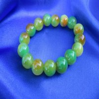 JADE: Beaded Bracelet-Green/Gold