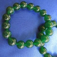 JADE: Beaded Bracelet - Dark Green