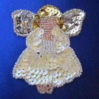 SEQUIN BEADED APPLIQUE: Cute Lil Angel
