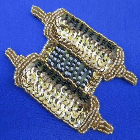Torah (gold) - Sequin Beaded Applique
