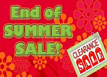 End of Summer Clearance Sale going on now!